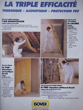 PUBLICITÉ DE PRESSE ISOVER SAINT-GOBAIN CALIBEL IBR MONOCOUCHE - ADVERTISING
