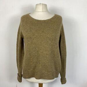 Nygardsanna Beige 100% Wool Button Back Oversize Jumper Size 14
