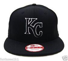 Kansas City Royals New Era 9Fifty Black & White Logo Field Snapback Hat Cap MLB