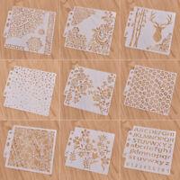 Layering Wand Textil Schablonen Scrapbooking Schneeflocken Blume Muster DIY Deko