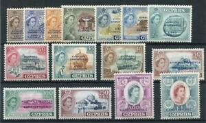 Cyprus 1960-61 set SG188/202 MLH/MM