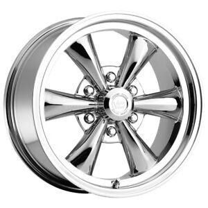 "Vision 141 Legend 6 17x8 6x5.5"" +19mm Chrome Wheel Rim 17"" Inch"