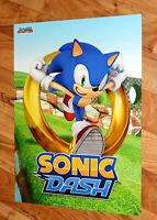 Naruto Shippuden Ultimate Ninja Storm 3 / Sonic Dash Rare Poster 56x42cm Sega