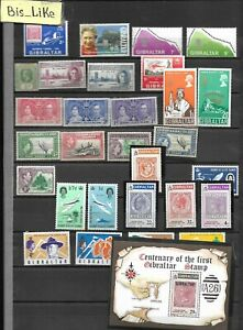 BIS_LIKE:many stamps diff. GB Col.  MH/NH / yellow stains 2 sh. LOT SEP 03-231