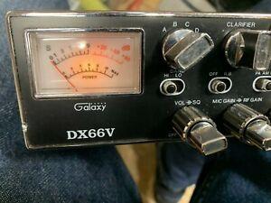 Rare! CB radio/ham radio Galaxy DX66V Dual Finals GREAT CONDITION Nice Look!!!