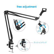 Microphone Mic Clip Suspension Boom Scissor Arm Stand Holder For Blue Snowball