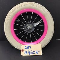 "12"" Rear Pink Bicycle Wheel w/ Coaster Brake & 12 1/2"" x 2 1/4"" Tire - Bike #G87"