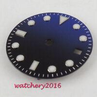 28.5mm Blue Sterile Dial PARNIS Date Luminous fit Mingzhu DG 2813 3804 movement