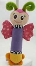 Ouatoo Baby peluche baton pouet papillon violet rose 19 cm
