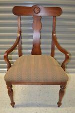"Ethan Allen British Classics Dining Armchair Maple #29-6400A #260 Chair ""B"""