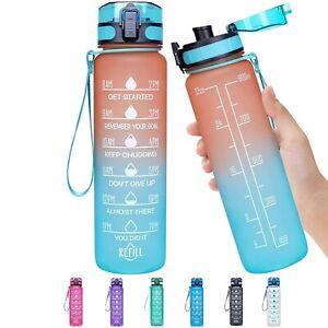 1L Portable Sport Water Bottles Anti-fall Leak-proof Large Plastic Water Bottle