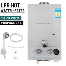 12L LPG Propane Gas Durchlauferhitzer Warmwasserbereiter Wasserspeicher Boiler