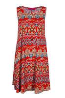 Ladies Womens Boohoo Aztec Tribal Print Sleeveless  Swing Dress Size 8,10,12,14