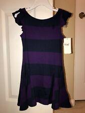 NWT Ralph Lauren Girls Purple/Navy Striped Dress  Sz. 4T