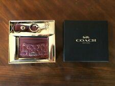 COACH Credit Card/ID Wallet with KEYRING  dogleash clip. UNUSED, STILL IN BOX!!