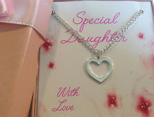 friend special daughter special niece grand daughter silver heart Necklace