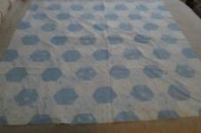 """Baby Quilt Fabric 40"""" x 44"""" Blue w/Letters & Flowers"""