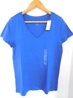 NWT GAP Women's Favorite V-Neck T-Shirt Blue Short Sleeve XS S Free Shipping NEW