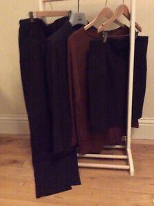 Maternity Suit 3-Pieces Work Trousers, Skirt & Jacket Formes Daniel Boudon UK 10