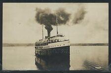 MI Whitehall RPPC 10s SS CAROLINA on WHITE LAKE Michigan Michillinda Photo ML389