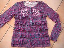 (259) Nolita Pocket Girls langarm Shirt A-Form + Logo Stickerei & Volants gr.128