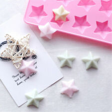 12 Holes Stars 3d Soap Mold DIY Chocolate Biscuit Mold Stome Mold Cake Decors!