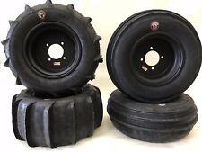 "DWT 14"" Black Ultimate Sport Front Rear Rims GMZ Sand Stripper Paddles Tires YXZ"