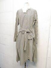Loewe Striped Avant Asymetrical Collar Waist Tie Shirt Dress Sz 34 Totokaelo