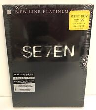 Seven se7en 1995 Movie Brad Pitt 2000 New Line Platinum Series 2-Dvd Set Sealed!