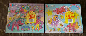Vintage My Little Pony/Candy Land Puzzle Packs! Rare! New! Sealed! 24 Piece!