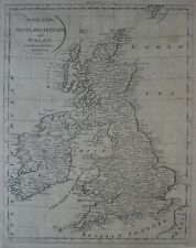 Original 1808 Jedidiah Morse Map ENGLAND SCOTLAND IRELAND WALES Dublin London