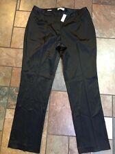 Nwts!!! Woman's Talbots W Heritage Black Pants  Size 16W X 32 Msrp $ 77.99