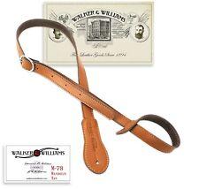 Walker & Williams M-78-TN Soft Leather Mandolin, Bouzouki or Uke Strap
