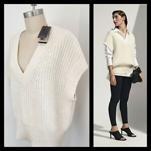 BNWT COUNTRY ROAD RIB DETAIL VEST [14 L] WHITE SHORT SLEEVE KNIT PULLOVER