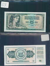 YUGOSLAVIA 5 DINARA 1968 UNC (rif. 227)