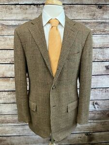 Polo Ralph Lauren Wool Angora Jacket 42R Brown Italy Corneliani Sportcoat Blazer