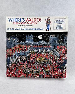 Where's Waldo Jigsaw Puzzle The Nasty Nasties 550 + Pieces Vintage