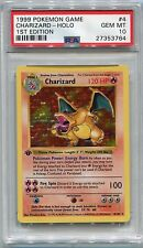 Pokemon Card 1st Edition Shadowless Charizard Base Set 4/102, PSA 10 Gem Mint