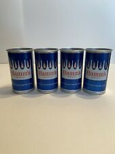 """Vintage Hamm's Beer 12 oz. Beer Can Lot Of 4 - """"New All Aluminum Can"""" - St. Paul"""
