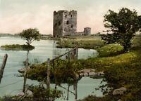 Threave Castle, Kirkcudbrightshire, 1890's, Vintage Scottish Photography Poster