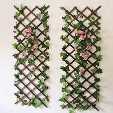 Natural Wood Wall Trellis Expanding Garden Flower Plant Climbing Fence 150X30cm