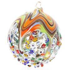 GlassOfVenice Murano Glass Venetian Mosaic Christmas Ornament