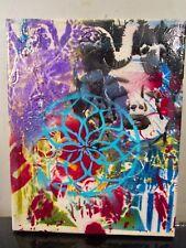 original painting canvas abstract graffiti by musk yai signed 8x10~ 2017