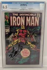 The Invincible Iron Man #1 Stan Lee authentic autographed 6.5  graded