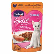 Vitakraft Cat Food Poesie Delisauce Junior Putenbrust 23x 85g Bag Meat