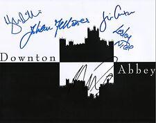 Downton Abbey cast signed autographed 11x14 Hugh Bonneville +4