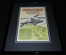 Airwolf 1988 Model Helicopter Framed 11x14 ORIGINAL Advertisement Cox