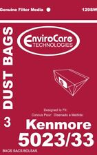 3PK, KENMORE 5023 5033 CANISTER, PAPER BAGS 129SW