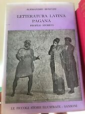 RONCONI, LETTERATURA LATINA PAGANA - PICCOLE STORIE ILLUSTRATE SANSONI, 1957