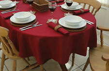 """55x98"""" (140x250cm) WINE OVAL TABLECLOTH - 8 SEATER / CHRISTMAS"""